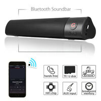 10W HIFI SOUNDBAR CASSA SPEAKER BLUETOOTH STEREO SUPER BASS USB FM AUX PORTATILE