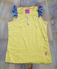 Little Joule girls yellow top with frill details. Size 4 years. Brand New.