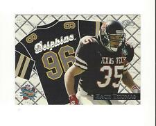 1996 Classic NFL Rookies Road Jersey Images #21 Zach Thomas Dolphins Texas Tech