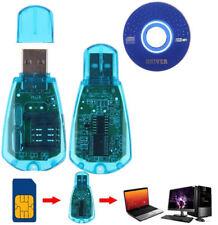 USB Cellphone Standard SIM Card Reader Copy Clon Writer SMS Backup GSM/CDMA+CD X