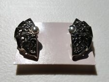 Vintage 1988 Avon Moonlight Lace Clip Earrings M1