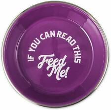 (1) HARMONY FEED ME SMOOTH ENAMELED STAINLESS STEEL BOWL MEDIUM 24 OUNCE DISH