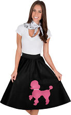Adult Poodle Skirt Black with Musical note printed Scarf