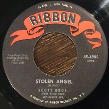 SCOTT BROS. Stolen Angel / Keep Laughin' 45, POPCORN Soul 1960 on Ribbon CLEAN
