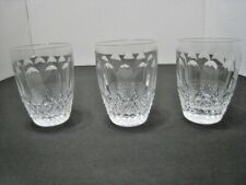 Set of Three 3  Waterford Crystal  Colleen 5 oz Flat Tumblers Crafted in Ireland
