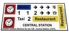 Lego® Custom Sticker for Trains (4,5V) set 148 - Central Station (1975)