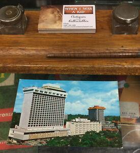 Vintage Singapore Hilton Postcard