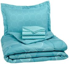 AmazonBasics 5-Piece Bed-In-A-Bag, Twin/Twin Xl, Industrial Teal