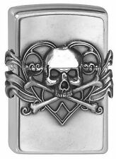 ZIPPO Feuerzeug SKULL WITH HEART Anne Stokes Collection Totenkopf Herz NEU OVP