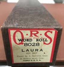 "Qrs Piano Roll 8028 ""Laura� Fox Trot Played By: J. Lawrence Cook Excellent Cond"