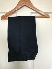 Boys M&S Navy Blue Flat Front Adjustable Waist School Trousers - Age 4-5 Years
