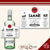 L46 Personalised Carta Blanca Superior White Rum Spirit Custom Bottle Label