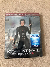 RESIDENT EVIL: RETRIBUTION new 3D/2D Blu-ray steelbook rare OOP French import