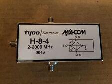 M/A-COM Tyco H-8-4 SMA(f) Broadband Two-Way Power Divider 2GHz RF Microwave #43