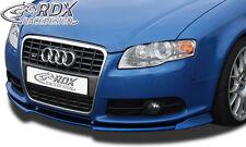 RDX Frontspoiler VARIO-X für AUDI A4 B7 8H Cabrio S-Line / S4 Cabrio ab 2005