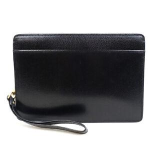 BALLY Leather business bag black hardware gold