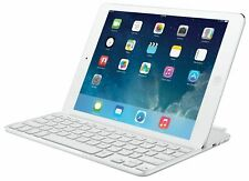Logitech Magnetic ClipOn Ultrathin Bluetooth Keyboard Case iPad Air Silver White