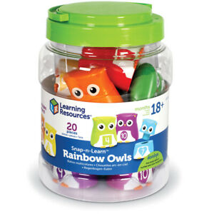 Learning Resources Snap-n-Learn Rainbow Owls - 10 Owl Set - LER6711