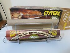 Vintage Pyrex Bake A Round Glass Bread Baking Tube and Rack #990 in Orig Box NOS