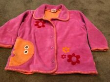 Vintage Oilily Pink Girls Pink Jacket with cute design/details size 24mo Euc