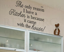 Wall Quote Decal Sticker Vinyl Art Letter The Kitchen Came With the House KI38