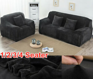 1/2/3/4 Sofa Covers Couch Slipcover Stretch Elastic Fabric Settee Protector Fit