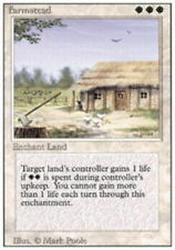 Farmstead ~ Heavily Played 3rd Edition Revised UltimateMTG Magic White Card