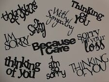 10 Sympathy I'm sorry Think of You words greeting card die cuts scrapbook