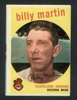 1959 Topps #295 Billy Martin VGEX Indians 122864
