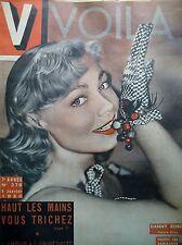 V MAGAZINE N° 276 DANNY ROBIN REPORTAGE TAPIS VERT PIN-UP DESSIN JEAN DAVID 1950