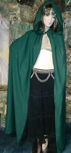 UNISEX CLOAK CAPE, Renaissance, Cosplay, Wizard, Witch, Harry Potter, GREEN, SCA