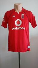 Cricket shirt England Away 2008 Vodafone Adidas Jersey National Red Mens Size S