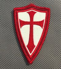 Steel Flame Ghost Crusader Red/White Morale Patch