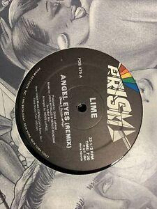 """Lime Angel Eyes remix 12"""" 1983 prism pds475 Hi NRG Disco"""
