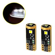 2x T10 6000K White 168 2825 194 LED License Plate Light Bulbs Car Accessories