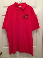 University of Maryland UMD Terrapins Men's Physical Education Red Polo Shirt XL