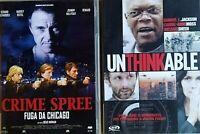 SERATA ACTION - UNTHINKABLE (2010) + CRIME SPREE (2003) - 2 DVD EX NOLEGGIO