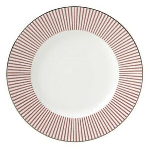 Kate Spade Laurel Street Accent Set Of 4 Dinner Plates , Red New