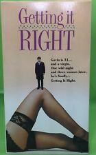 GETTING IT RIGHT VHS 1989 Jesse Birdsall Helena Bonham Carter Peter Cook John Gi