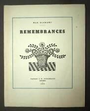Max Elskamp REMEMBRANCE  1924 édition originale poète symbolique symbolisme