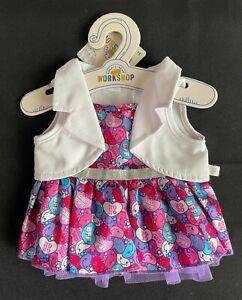 Build-A-Bear Candy Hearts Waistcoat Dress **NEW WITH TAG**