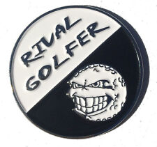 'FIFTY/FIFTY' Golf Ball Marker #6 - Black/White
