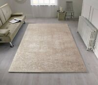 Velvet Ivory Cream Shaggy Rug in various sizes and runner