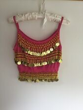 TRIBAL Belly Dance Blocco Stampa assuit Oliva Argento 100/% poliestere