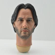 "Free Ship 1/6 scale Head Sculpt Keanu Reeves John Wick fit 12"" male body toys AU"