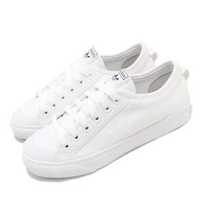 adidas Originals Nizza Trefoil White Black Men Unisex Casual Shoe Sneaker FW5184