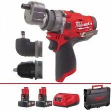 Milwaukee M12fpdxkit-602x M12 Fuel Compact Percussion Drill Kit 12v