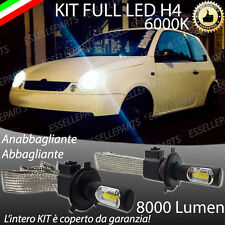 KIT FULL LED VW LUPO LAMPADE LED H4 6000K BIANCO GHIACCIO NO ERROR 8000 LM