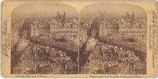 Paris panorama Photo Stereo Stereoview Vintage sur Papier Citrate