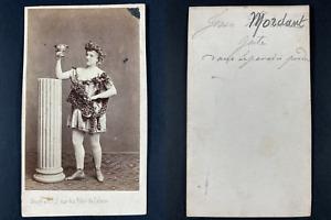 Vaury, Paris, le Paradis perdu, actrice à identifier Vintage cdv albumen print